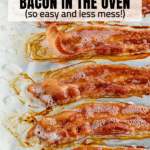 A baking sheet with cooked bacon from the oven.