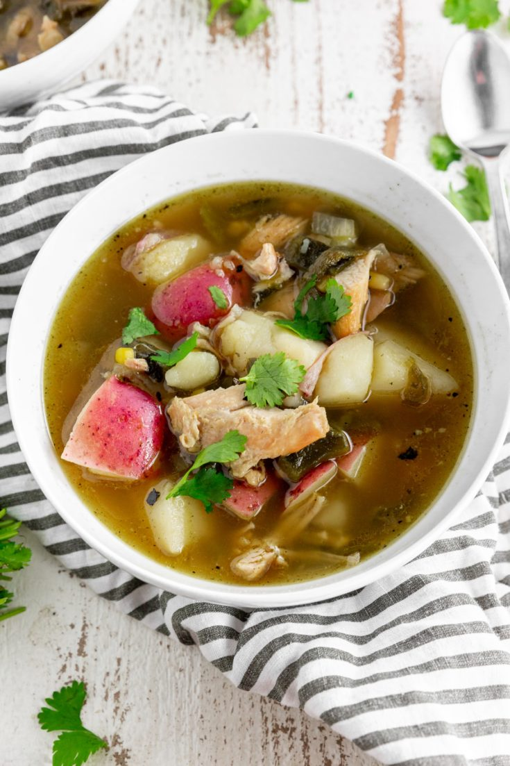 Roasted Poblano Chicken Soup