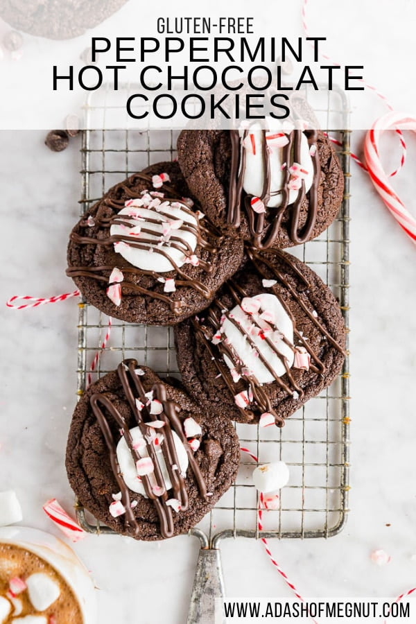 Gluten-Free Peppermint Hot Cocoa Cookies
