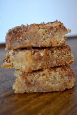 A stack of three snickerdoodle blondies.