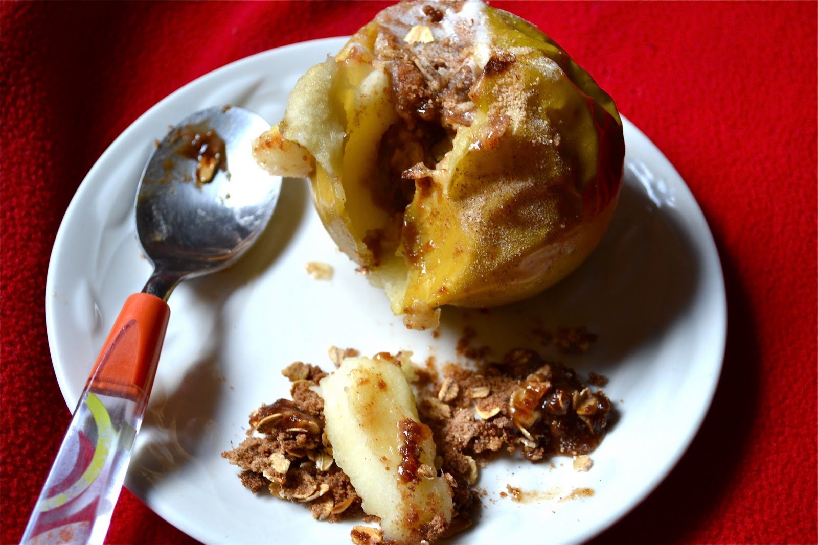 Single Lady Dessert: Baked Stuffed Apple - A Dash of Megnut A Dash of ...