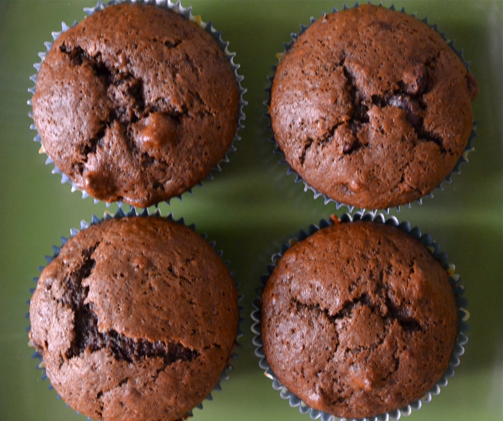 Double Chocolate Banana Muffins - A Dash of Megnut