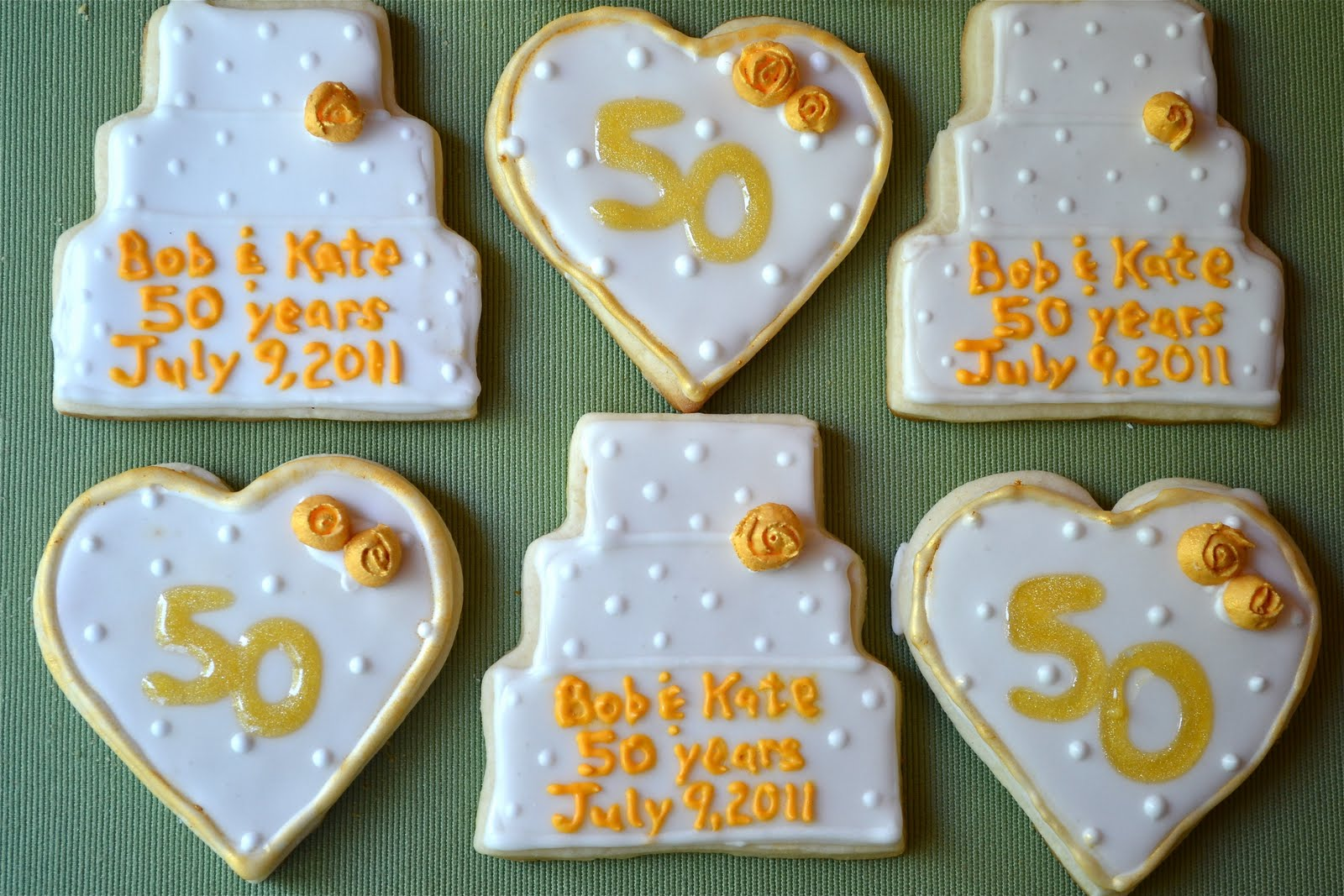 50th Anniversary Sugar Cookies