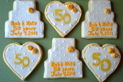 Wedding cookie and heart shaped sugar cookies.