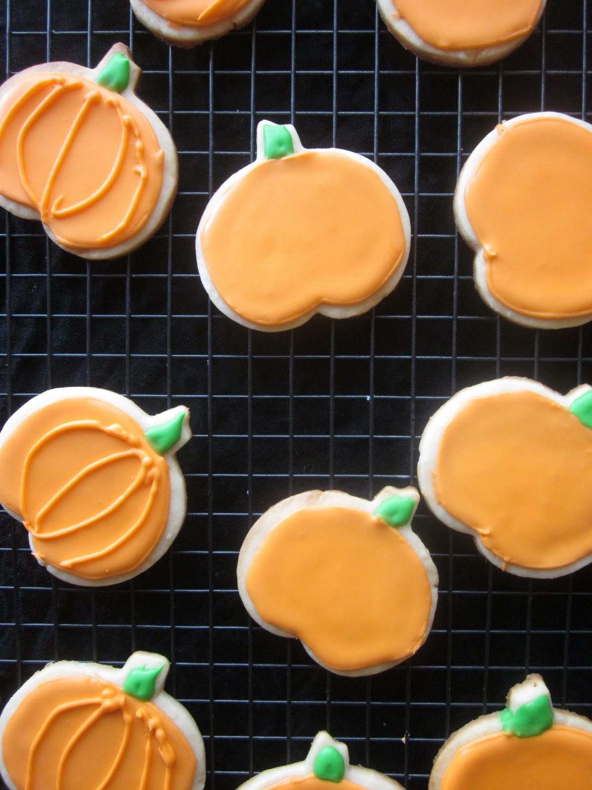 Pumpkin Sugar Cookies - A Dash of Megnut
